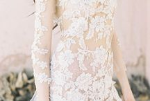 Delicate bridal gowns
