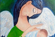 Anioły, Engel ,Angels / Moje obrazy z Aniołami Meine Bilder mit Engeln My paintings with Angels