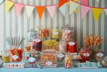 """""""It's Sweet to be ONE!"""" / Camryn's 1st Birthday Party - Lollipop Sweet Shop (Candy Bar themed) TomKat studio invites and labels."""
