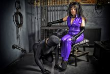 The Purple Caterpillar / Photographs of a character from my book 'Adventures in Fetishland', a bdsm/fetish reinvention of Alice in Wonderland