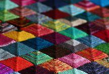 strikkede tæpper