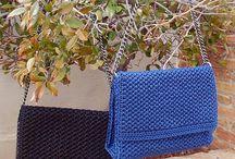 Trendy handbags (handmade bags) / trendy handmade handbags, crochet handbags, knitted purses, knitted handbags, everyday bags, evening bags, casual handbags