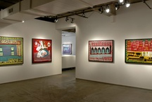 New York Art Galleries / Work hanging in art galleries in New York City