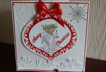 Christmas Cards Pink Paper Blossoms