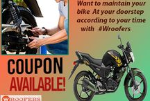 bike service center in gwalior / Bike service with pick&Drop OR use coupons with wroofers and enjoy upto 30% flat off..!! Book now #Bike service #Bikers #BestBikeServiceCenter