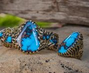 Turquoise Jewelry by John Hartman - Durango, Colorado USA / John Hartman of Durango Silver Company  has been mining, collecting and cutting the highest quality Turquoise in the world for over 40 years. He is a prolific Silver and Goldsmith, his Turquoise Jewelry is collected worldwide.