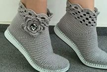 sapatos croche