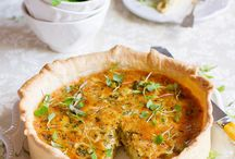 Savoury tarts and quiches