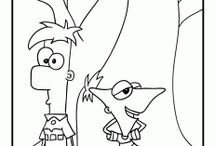 PHINEAS Y FERB COLORING FREE
