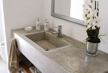 BATHROOM Cement countertop
