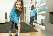 cleaning kids