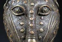 African art,masks,bronze