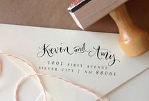Stationery / Invite Inspo - Natural, Calligraphy, Peach-Coral, Blacks, Rosemary