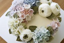 Floral buttercream cakes