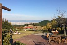 Autumn 2014 @ Fukuoka / Momoland park in Fukuoka, Japan. Autumn in 2014. Beautiful view on the top of Fukuoka City.
