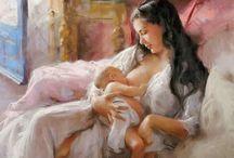 Anne Çocuk Resimleri