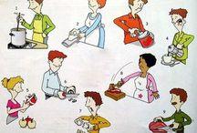 verbi per  cucinare