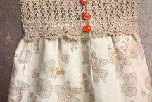 tığ işi kumaş elbise