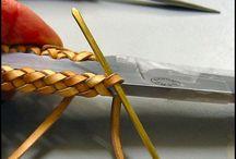 кожаное плетение