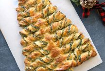 Christmas tree spinach breadsticks