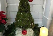 Weihnachtsdeko hauseingang