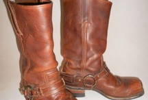Vintage Boots and Shoes Obsession / Engineeers, bikers workboots and cowboys, sandals, wedges, stillies, I love them all.