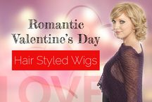 Romantic Valentine's Day Hair Styled Wigs