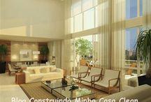 Salas de Estar! / Veja + Inspirações e Dicas de decoração no blog!  www.construindominhacasaclean.com