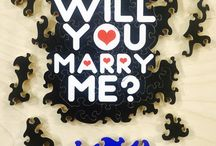 """Marriage Proposal Jigsaw puzzles / Hand Crafted Wooden """"Marriage Proposal"""" Jigsaw puzzles, Custom Made using your digital photos, colorful graphic designs, and fine art work. Typically from 75 to 200 piece puzzles."""