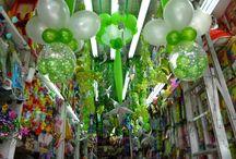 decoración cumpleaños en verde