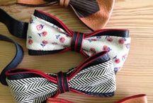 Pajaritas de cuero / Una gran selección de pajaritas hechas con cuero.