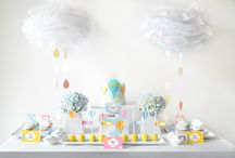 Soar Experience by Sweet Society / Hot-Air Balloon dessert table, hot-air balloon desserts