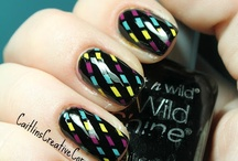 nail art using striping tape