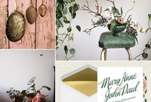 green, gold and coral  / trend for 2014