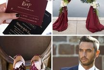 burgundy winter wedding