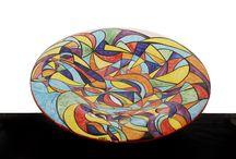 Piatti in  ceramica decorati / Piatti in ceramica,decorazione fatta a mano,pezzi unici.Colori brillanti,fantasie uniche,pezzi unici