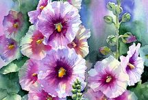 watercolours flowers