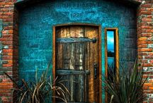 Doors and Entryways / Front doors, back doors, side doors, barn doors, sliding doors, stable doors, bright interesting doors, antique doors, you name it, just doors .. entryways to interesting interiors ...
