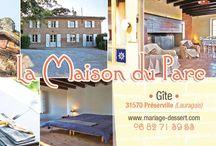 La maison du Parc à Préserville / http://www.mariage-dessert.com/maison-du-parc.html  © Grain de clic - Photographies
