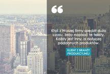 Cytaty od Klientów / Zamieszczamy tutaj cytaty od naszych Klientów, które mówią o naszej pracy w online marketingu.