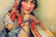 Gypsy collage art