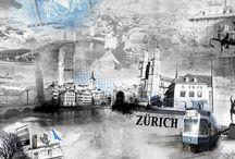 Städtecollagen / Entdecke unsere Collagen Kollektion von schweizer Städten.