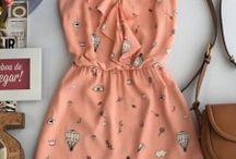 Moda atual vestido