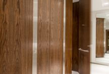 Real wood and wood effect veneers / A collection of our favourite projects featuring real wood or wood effect veneer toilet cubicles, duct panelling or lockers.