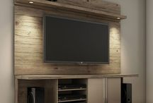 tv stands-tv wall