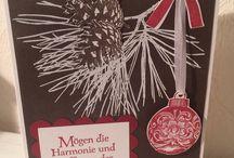 Weihnachtskarten handmade
