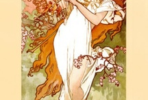 Art Nouveau Art Prints / Art Nouveau art prints from BandagedEar.com are available from artists such as Theophile-Alexandre Steinlen, Gustav Klimt, Alphonse Mucha and many more!  / by Bandaged Ear