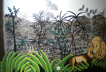 Jungle Murals / It is the theme I am most often asked for. It allows for wonderful colours, easily recognisable images and sparks an interest in the world around us.