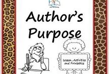 Author's Purpose / Author's Purpose. Teach the concept of author's purpose with this lesson, activities, and printables. Students/child will learn how authors persuade, inform and entertain their audiences.  These Author's Purpose lesson, activities, and printables will make teaching author's purpose a breeze for you!  ENJOY!
