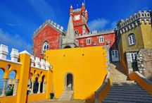 """Sintra Afternoon Tour / Come spend an afternoon in Sintra, UNESCO World Heritage Site and the most romantic town in Portugal. Get to know Pena Palace, the Moorish Castle, Regaleira Villa and Monserrate Palace. Late in the afternoon, you can take a stroll through the old town and enjoy a """"travesseiro"""" (meaning """"pillow"""") typical Sintra cake. Enjoy one of the most beautiful landscapes of Portugal!"""
